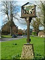 SK9508 : Empingham village sign by Alan Murray-Rust