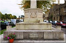 SP3509 : War Memorial (3) - detail, Church Green, Witney, Oxon by P L Chadwick