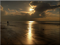SD2707 : Sunset at Formby Beach by David Dixon