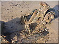 NT6479 : Coastal East Lothian : Mystery Object On Spike Island Sands (Small Wheel) by Richard West