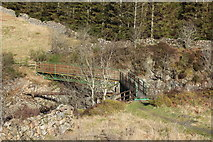 NX5987 : Footbridge to Polmaddy Historic Settlement by Billy McCrorie