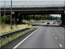 SE5209 : Southbound A1, Bridge at Red House Interchange, Doncaster by David Dixon