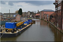 SK7953 : Boats in the Basin at Newark on Trent by David Martin