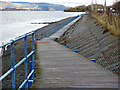 NS3374 : Riverside path at Port Glasgow by Thomas Nugent