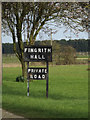 TL6003 : Fingrith Hall sign by Adrian Cable