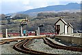 SH5738 : Signals and signal box at Porthmadog by Richard Hoare