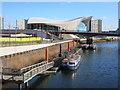 TQ3784 : Olympic Park Trip Boat Pier by Des Blenkinsopp