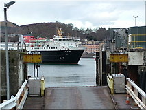 NM8529 : The Isle of Mull ferry approaching the Oban terminal by Peter Evans