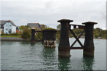 SX4952 : The Hooe Lake Swing Bridge (rems of) by N Chadwick