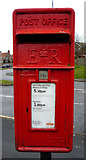 TA1181 : Close up, Elizabeth II postbox on Fir Tree Drive, Filey by JThomas