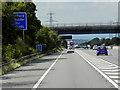 SK4689 : Northbound M1, Doles Lane Bridge by David Dixon