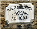 SD9701 : Ponge Buildings AD 1885 by Gerald England