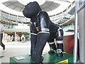 TG2208 : Gorilla Sculptures inside the Norwich Forum by Matthew Cotton