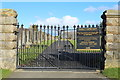 NS2701 : Dailly Cemetery Gates by Billy McCrorie