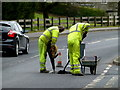 H4672 : Cutting out damaged tarmac, Omagh by Kenneth  Allen