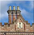 TG1602 : Chimney stacks at Ketteringham Hall by Evelyn Simak