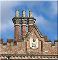 TG1602 : Chimney stacks at Ketteringham Hall by Evelyn Simak