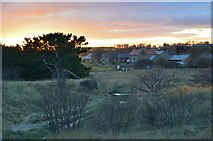 NZ2796 : Nearing sunset at Druridge by Jim Barton