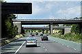 SE3205 : Northbound M1, Bridges at Junction 37 by David Dixon