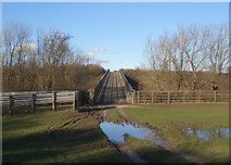 SS8380 : Bridge over the M4 east of North Cornelly by eswales