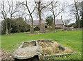 NZ2340 : Cemetery at Brandon Village by Trevor Littlewood