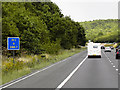 SE3014 : M1 Motorway Passing Driver Location A286.7 by David Dixon