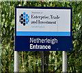 J3975 : Entrance sign, Netherleigh, Belfast (February 2016) by Albert Bridge