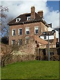 SO8454 : House next to Worcester Cathedral by Philip Halling