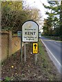 TQ7330 : Kent county boundary sign by Chris Whippet