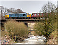 SD7915 : East Lancashire Railway Crossing the Irwell at Brooksbottoms by David Dixon