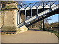 SJ4812 : The north eastern abutment of the Kingsland Bridge #2 by John S Turner