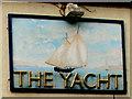 SH9478 : The Yacht nameboard,  Pensarn, Abergele  by Jaggery