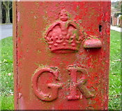 TA0288 : Cypher, George V postbox on Woodland Ravine, Scarborough by JThomas