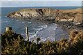 SM8032 : Headland across Traeth Llyfn by Alan Hughes