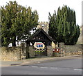 SJ3043 : Lychgate and trees at the entrance to St Mary's Church, Ruabon by Jaggery