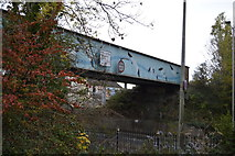SX4954 : Rail bridge over the A374 by N Chadwick