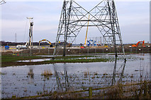SD4260 : Walney Extension sub-station construction site by Ian Taylor