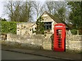 SK9303 : Telephone kiosk and former Exchange by Alan Murray-Rust