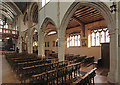 TQ1096 : Holy Rood, Watford - South arcade by John Salmon