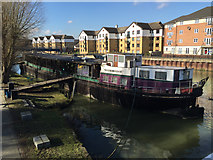 TL1998 : Barge converted to a restaurant and bar, River Nene by the town bridge, Peterborough by Robin Stott