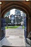 TL7006 : View out of the South Porch of Chelmsford Cathedral by Derek Voller