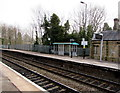 SJ3043 : Passenger shelter on platform 2, Ruabon railway station by Jaggery