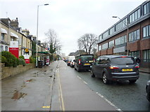 TL4557 : Bus stop and shelter on Hills Road, Cambridge by JThomas