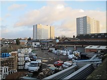 TA0828 : Builder's yard off Anlaby Road, Hull by Stephen Craven