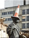 SO8554 : Elgar statue complete with traffic cone by Philip Halling