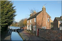 SO8554 : Blockhouse Lock with cottage by Alan Murray-Rust