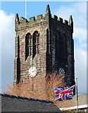 SK4346 : The tower of St Lawrence's Church in Heanor by Mat Fascione