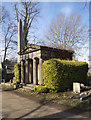 TQ2282 : Mausoleum and obelisk, Kensal Green Cemetery by Julian Osley