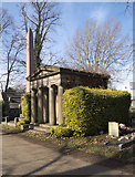 TQ2282 : Mausoleum and obelisk, Kensal Green Cemetery by Jim Osley