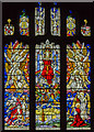 SK8251 : East window, St Giles' church, Balderton by Julian P Guffogg